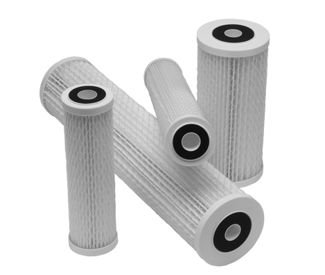 Submicron Pleated Water Filter Cartridges